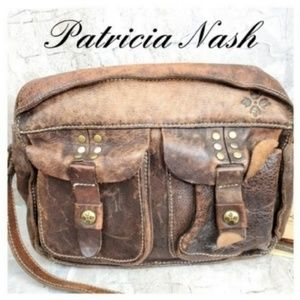 Patricia Nash Teramo Washed Studded Crossbody Bag